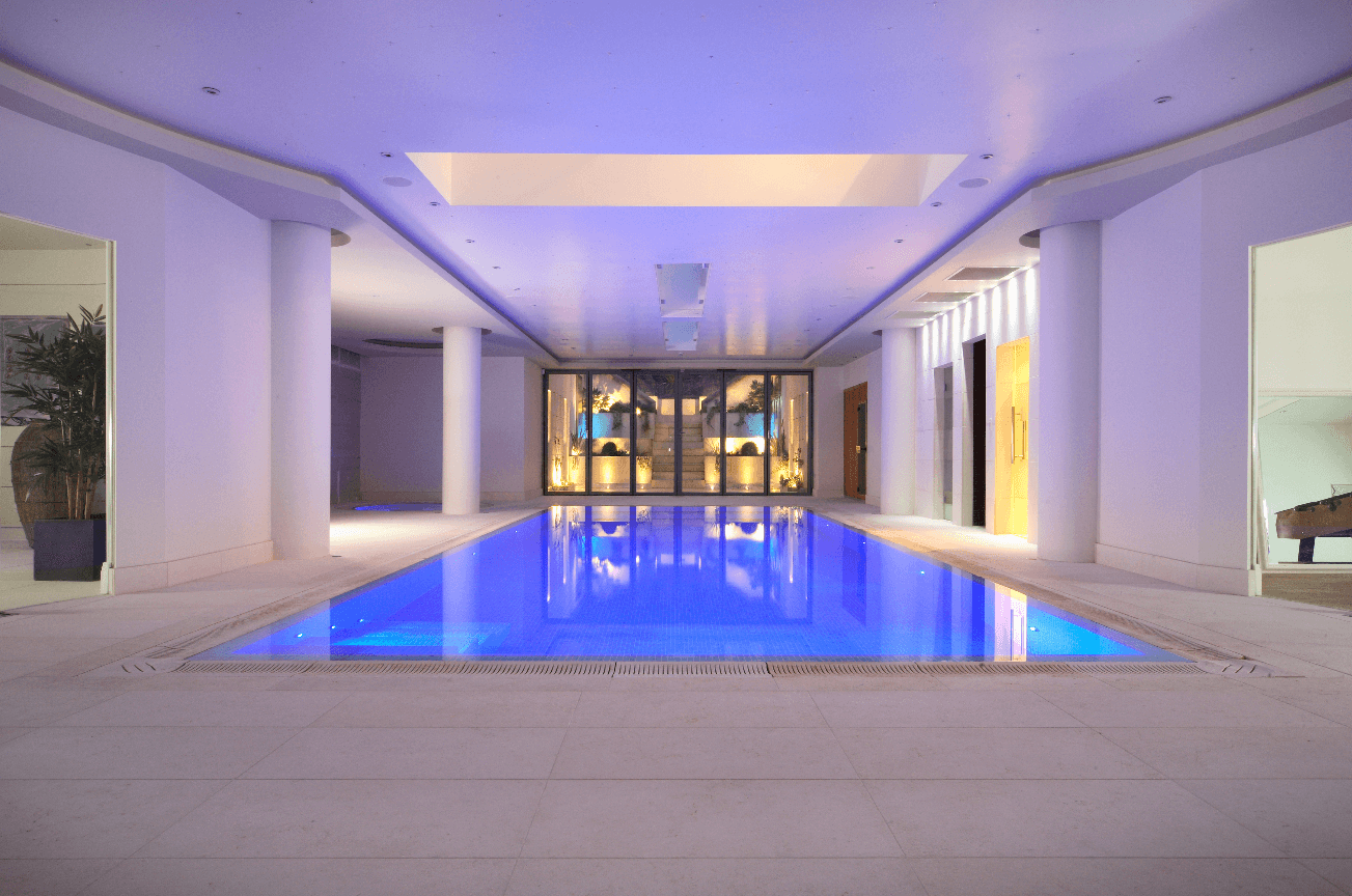 limestone modern swimming pool